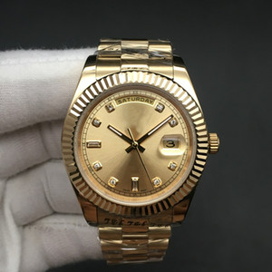 Mens DayDate relógios de ouro completa Watch Data 118238A 118238 Movimento mecânico automático Sapphire Original Fecho de pulso 41 milímetros