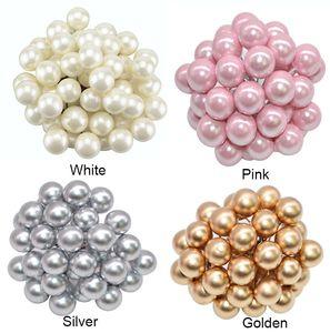 Mini Berry espuma perlas Pequeño falso decoración acebo Navidad de la flor artificial de la baya cereza boda de la perla de bricolaje caja de regalo Coronas