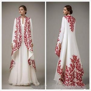 Nova moda Pattern Oriente Médio Vestido Decoração Satin Árabe Prom Vestidos A-Line vestido de festa Vestidos