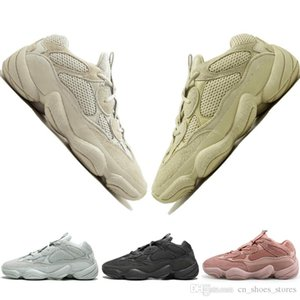رخيصة الجديد 500 الصحراء الجرذ أحمر الخدود 500S الملح سوبر القمر الأصفر المساعدة الأسود الرجال الاحذية الرياضية للرجال والنساء حذاء رياضة مدرب مصمم