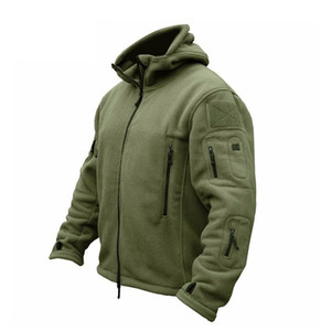 ZOGAA Männer Bomber-Jacken-Mantel Fleece Tactical Overcoat Male Außen Hooded Zipper Massiv Thermal Outwear Jacken Mäntel