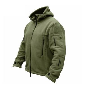 ZOGAA Erkekler Bombacı Ceket Kaban Fleece Taktik Palto Erkek Açık Kapşonlu Fermuar Katı Termal Dış Giyim Ceketler Coats