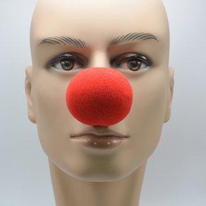 Adorável Nose Red Ball Sponge Clown para o Dia das Bruxas Decoração do casamento Partido Crianças Costume da bola do Natal do traje vestido Acessórios