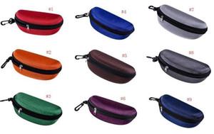 Солнцезащитные очки Case Eyeglasses Box Gakes Bag Eyeglasses Перенос коробки Солнцезащитные очки Портативный крючок на молнии Жесткие солнцезащитные очки 24 цвета