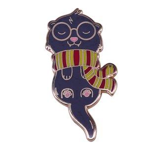 Pino de lapela do gato do feiticeiro de Jackson bonito jóia mágica de HP