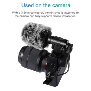Caméra Microphone 3,5 mm super VLOG Photographie Interview numérique Enregistrement vidéo HD Microphone Utilisez pour Smartphone et appareil photo