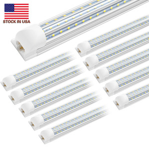 8Ft Led Shop Lights ,8 feet Cooler Door Freezer LED Lighting Fixture ,3 Row 150W 14400 lm ,D Shape Fluorescent Led Tubes Lights Clear Cover