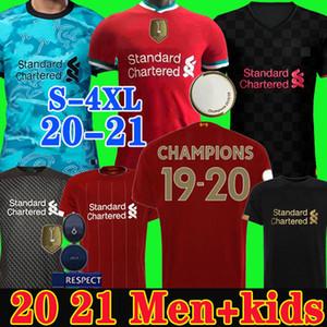 Camisetas de fútbol Liverpool soccer jersey de LVP Nuevas Mohamed M. Salah 2019 2020 2021 camiseta de fútbol 19 20 VIRGIL MANE FIRMINO KEITA MILNER portero hombres + kit de niños