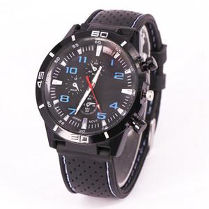 GT relojes de marca de diseño de lujo del reloj para hombre de silicona de moda negocio de los relojes de costura deportes ocasionales de cuarzo de pulsera Negro Retro