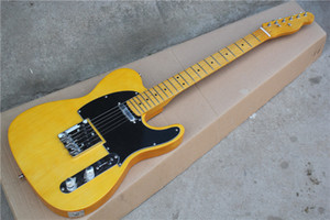 Custom Shop '52 American Deluxe Telecaster Maple naturel Tele Guitare électrique Butterscotch Blonde pickguard noir Manche en érable