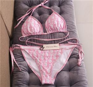 2020 Hot newsummer moda impressão de desconto bikini.Wholesale clássico xadrez de praia swimwear das mulheres