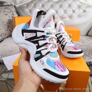 2019 Retro Mens женщин Арка дышащие кроссовки Мода Роскошные дизайнерские повседневная обувь кроссовки Открытый сапоги Daddy обувь
