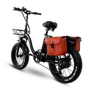 Y20 складной электрический снежный велосипед, двигатель 750 Вт, батарея 48 в 15 а, 20-дюймовый горный велосипед Fat Bike, педаль Assist E-bike с корзиной
