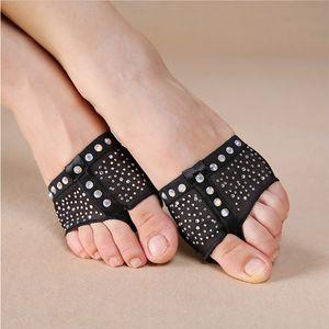 Черные подушечки с сверкающих страз, Foot стринги, Половины обувь, танец Paws, танец живота обувь одна пара SF370