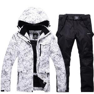Erwachsene Frauen Männer Skifahren Anzüge Snowboarding wasserdicht winddicht atmungsaktiv Outdoor-Schneeanzug Jacke und Hose Gürtel Unisex Ski-Kleidung Sets