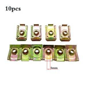 Nuts & Bolts 10 Pcs U-Type Car Clips Rivets 5 M6 M8 For Car Motor Tread Panel Spire Nut Fairing Clip Fastener