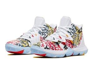 L'alta qualità Kyries 5 Tenere Sue fresco in vendita con le scarpe di sicurezza BEST 5 pallacanestro negozio Trasporto libero di goccia di trasporto US7-US12