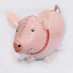 Cochon mongolfière Pédestre porc ballon pour Photo Props Halloween Noël Jour de fête d'anniversaire de la Saint-Valentin Décoration HHA511