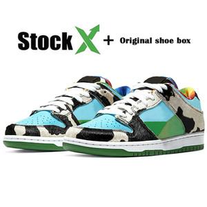 De calidad superior SB Dunk Low auténtico diseñador de las zapatillas de deporte del monopatín Safari Chunky Dunky para mujer para hombre blanco de los zapatos corrientes Tamaño 36-45