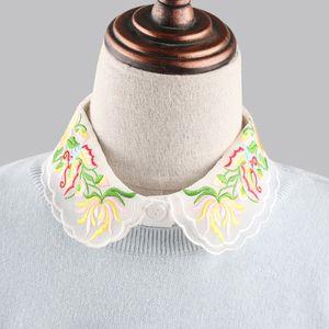 Fashion women accessories Blouse fake collar decorate nail flowers yarn collar art clothes decoration fake shirt collar embroid