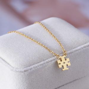 Frete grátis real Gold / Silver / Logo banhado a ouro Rose T Pendant B Colar Pingente de Marca