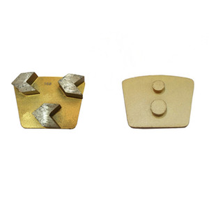 High Sharpness Concrete Grinding Tools Metal Bond Trapezoid Grinding Pads Two Pins Redi Lock for Concrete Grinder 12PCS