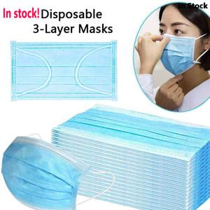 DHL de envío Profesión Máscara Máscara de 3 capas PM2.5 no tejidos desechables elástico boca suave y transpirable cara