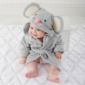New Baby bathrobe Children kids Pajamas Panda Mouse bath robe baby homewear boys girls hooded robe beach towel