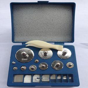 Livraison gratuite de haute qualité Blue box argent 19Pcs 501g 10mg ~ 200g M2 Set Grammes Précision Calibration Poids Balance Numérique