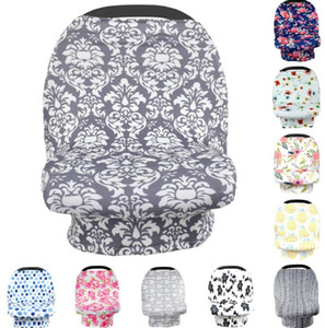 Сиденье для младенцев Навес автомобилей Обложка 26styles INS Цветочные Эластичный хлопок младенца Уход крышки Feeding коляска Крышка Infant шарф Одеяло GGA3496