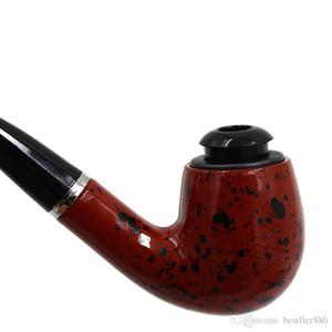 Smoking Set Ebony Wood Smoking Pipe Handmade Brown Tobacco Pipe 12cm Wood Pipe Classic Bent Pipes Gift Cigarette Cigar Tube H0136