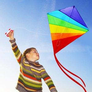 Cerf-volant pour adultes enfants Easy Flyer arc-en-Cerfs-volants Best Beach été en plein air Jouet Durable Nylon Kite