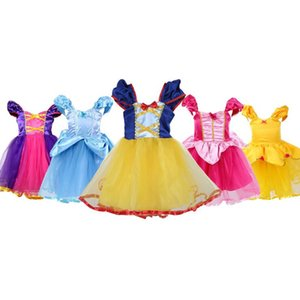 Mädchen-Prinzessin Kittelschürze Kostüm-Parteikleid bis Cosplay Outfit Weihnachtskleid für Babys Tutu Schürze Halloween-Kostüm DHL FJ335