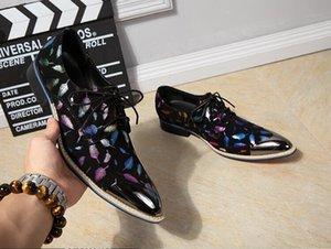 Британская мода мужская стилист парикмахерская обувь личность КТВ бар уникальный бизнес обувь глава мужская свадьба обувь H312