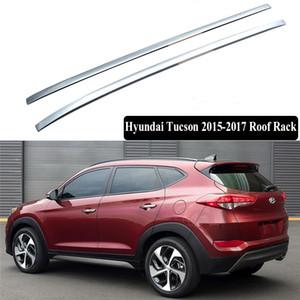 JIOYNG Pour Hyundai Tucson 2015-2017 Rack Rails de toit Barre porte-bagages Bars haut Racks rail Boîtes ABS