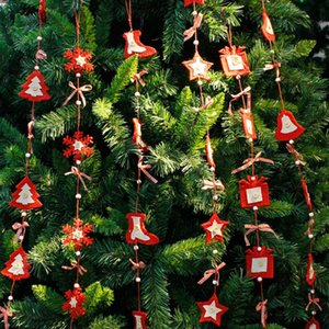 110cm Christmas Tree Pendant Drop Ornaments Christmas New Year Gift Holders for Party Decoration Supplies Red