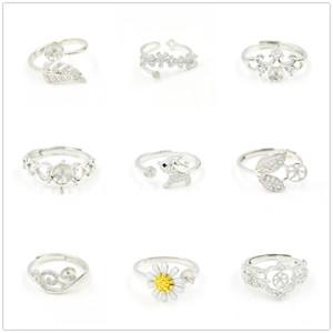 CR Schmuck Perle Ring Einstellung Zircon Massivsilber 925 Ringe Einstellungen Perlenringe Montagering Blank DIY Schmuck DIY Geschenk 9 Styles