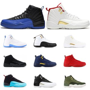 12 7 13 Mens Basketball Shoes s Winterized Wntr Gym Red Michigan Black Bordeaux The Master Flu Game Taxi Sports Sneaker Trainers Size -