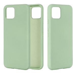 Pour Google Pixel 33XL 360 ° Protection silicone liquide Cas de téléphone solide simple bonbons couleur de couverture pour Pixel 4 4XL