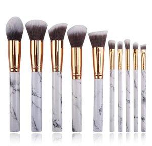 NOVO 10pcs Makeup Brushes Set três cores de mármore pincel padrão Jogo da composição química fibra saudável material pele amigável e confortável.