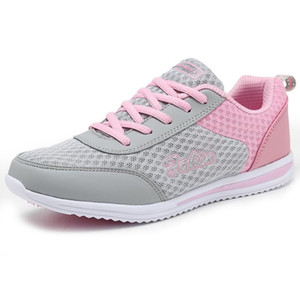 Spring Autumn Running Shoes For Women Breathable Mesh Shoes For Network Soft Wild Flats Size 35-42