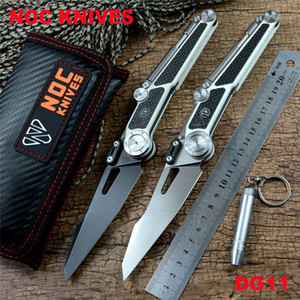 NOC DG11 folding knife with tools 440C blade G10 handle ceramic ball bearing washer outdoor camping hunting pocket knife EDC tools