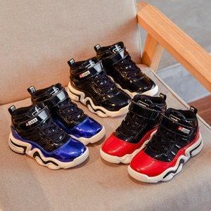 Yüksek Kaliteli Çocuk Ayakkabı Bebek Basketbol Ayakkabı Siyah Erkek Çocuklar Kız Bebek Çocuk Ayakkabı futbol ayakkabısı koşu ayakkabıları