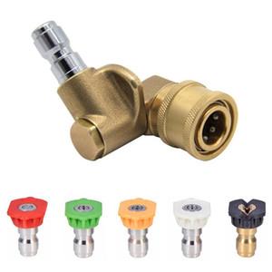 Pressão da arruela Bocal de pulverizador Dicas e Quick Conexão Pivoting acoplador 2,5 GMP 4500psi 1/4 de polegada plug 90 graus