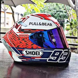 2020 новый шлем SHOEI мотоцикл X14 красный муравей анти-туман шлем гоночный мотоцикл под управлением мужчины и женщины