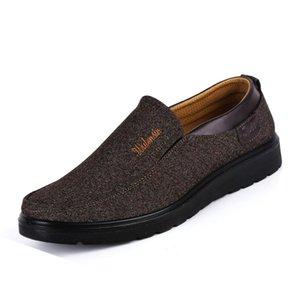Scarpe di marca Sneakers Mocassini Vintage uomo scivolare su Flats stile cinese Calzatura uomo Dring auto Uomini piatto Mocassini Scarpe