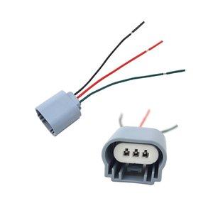 LEEWA gros H13 Phare Extension Socket Connecteur Plug CERAMIC HITEMP source de lumière de voiture voiture style # 5469