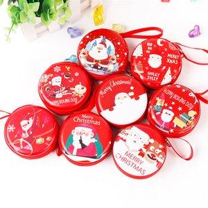 Netter Karikatur-Geldbörse Weihnachtsbaum hängende Kugel-Verzierung Weihnachtsmann-Geschenk Mini Wallet Candy Bag Schlüsseltasche Anhänger Kopfhörer-Kasten-Abdeckung