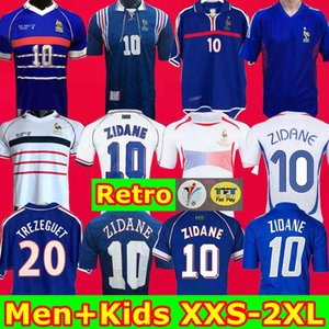 Início 2002 camisa 1996 2000 1998 2006 France Retro KIDS camiseta de fútbol jersey 2004 Trézéguet ZIDANE HENRY maillot de pé Ribery Djorkaeff