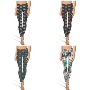 Ohio Bobcats football noir Mode Vintage Women pantalon de yoga Poches Casual pleine longueur adapté pour les sports Leggings joueur gris vert